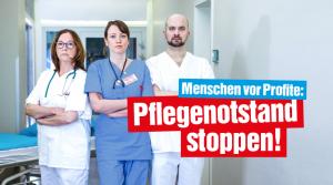 Kampagne: Pflegenotstand stoppen!